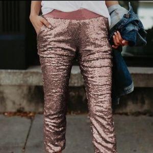 Pink Sequin pants